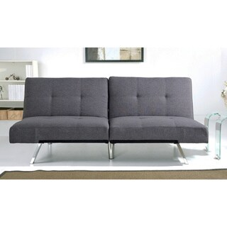 Abbyson Living Aspen Grey Linen Futon Sleeper Sofa