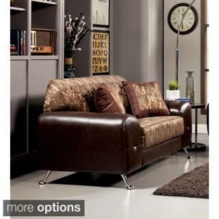 Furniture of America Mara Contemporary 2-Tone Loveseat