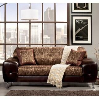 Furniture of America Mara Contemporary 2-Tone Sofa