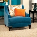 Furniture of America Estella Retro Peacock Blue Club Chair