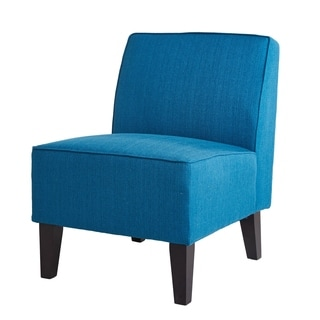 ABBYSON LIVING Becca Blue Linen Chair