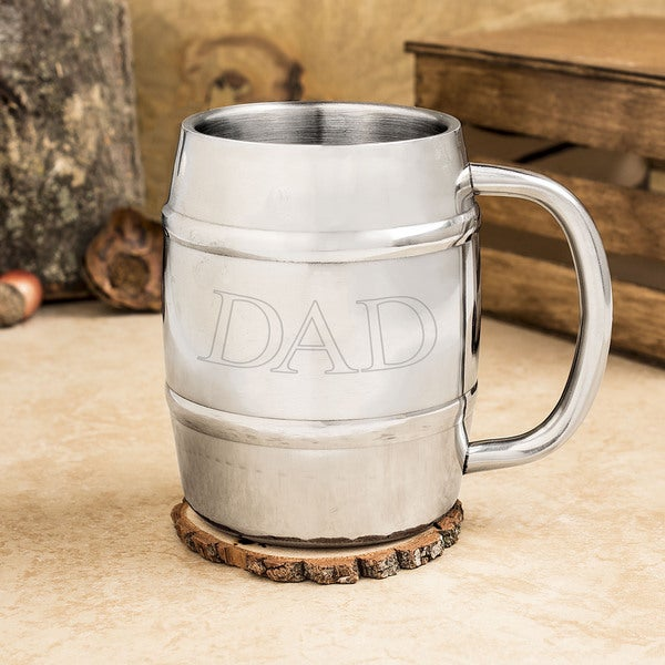'Dad' Stainless Steel Keg Mug