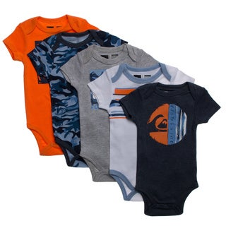 Quicksilver Newborn Boys Blue Theme 5-piece Body Suit Set