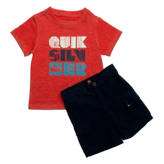 Quicksilver Toddler Boys Orange/ Blue Tee and Board Shorts