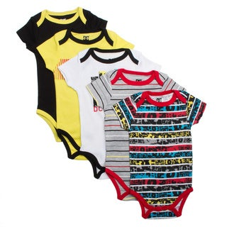 DC Newborn Boys Brown Bodysuit Set (Pack of 5)