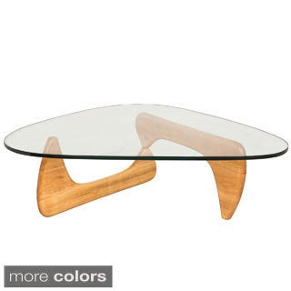Somette Imperial Triangle Coffee Table with Wood Base