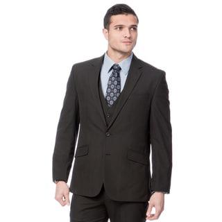 Kenneth Cole Men's Black Shadow 3-piece Suit