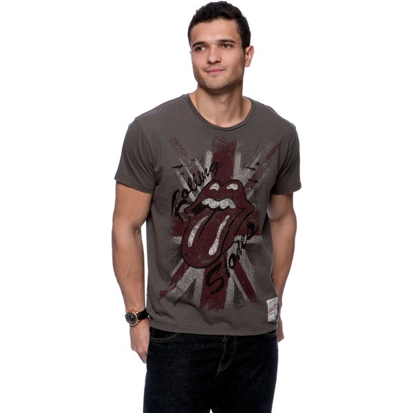 Riff Stars Men's Union Jack Rolling Stones T-shirt