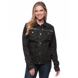 Women's Yoke Studded Jacket Size Large