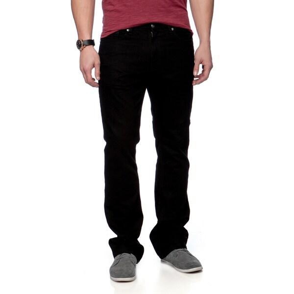 Riff Stars Men's Black Union Jack Jeans