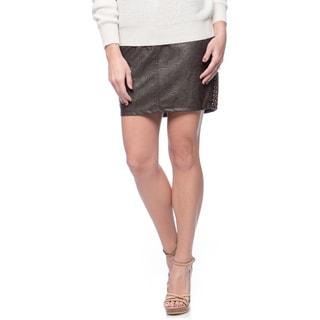 Women's Pleather Skirt (Size 31)