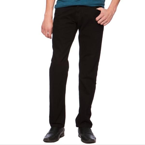 Riff Stars Men's Jet Black Skinny Jeans