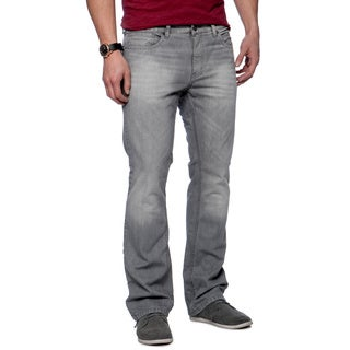 Riff Stars Men's Grey Denim Boot-cut Jeans