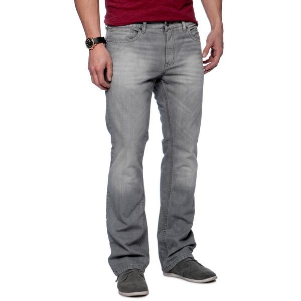 Riff Stars Men's Grey Denim Boot-cut Jeans