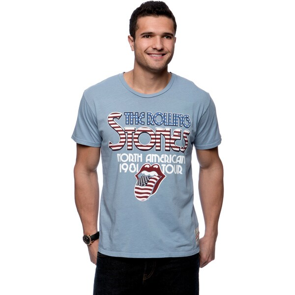 Riff Stars Mens Blue Rolling Stones American Tour T shirt   17080250