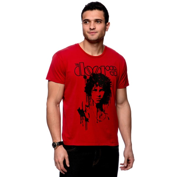 Riff Stars Men's Red The Doors Dripping Tee Size Extra Large