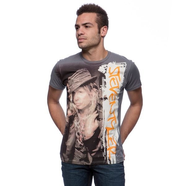 Andrew Charles Men's 'St Fire' Grey T-shirt Size Small