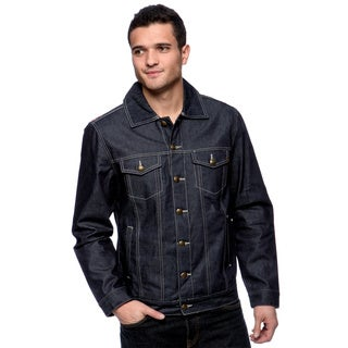 Riff Stars Men's Indigo Studded Union Jack Jacket