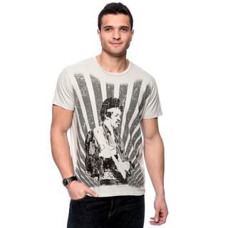 Riff Stars Men's 'Hendrix Rays' Grey T-shirt