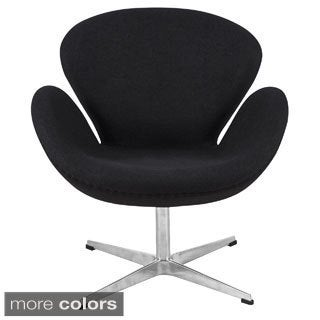 Somette Wool/ Leather Luray Chair