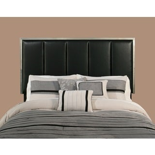 Lorelie Black Faux Leather Upholstered Headboard