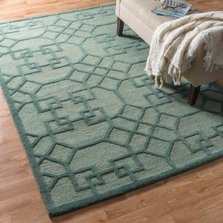 Hand-hooked Celeste Lattice Rug (5'0 x 7'6)