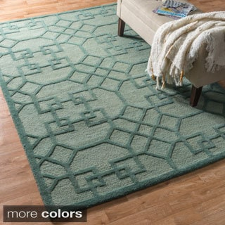 Hand-hooked Celeste Lattice Rug (9'3 x 13'0)