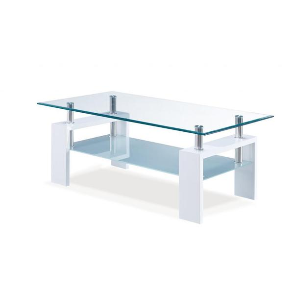 White Occasional Glass Coffee Table