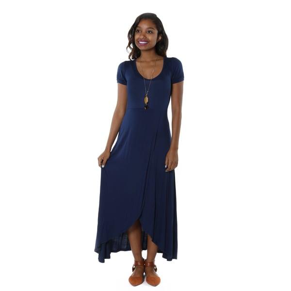Hadari Women's Casual Scoop Neck Maxi Dress