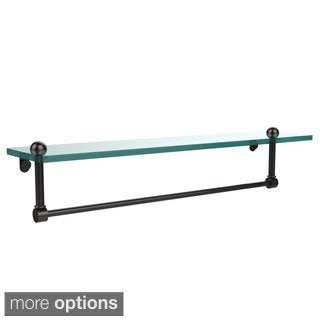 22-inch Glass Shelf with Towel Bar