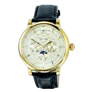 Adee Kaye Funzione Light Dial Goldtone Watch
