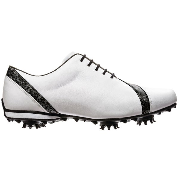FootJoy Womens LoPro Collection Asymmetrical White/Black Golf Shoes