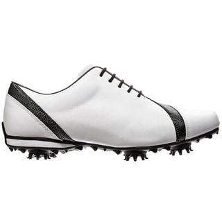FootJoy Womens LoPro Collection Asymmetrical White/Black Golf Shoes