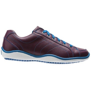 FootJoy Womens LoPro Casual Traditional Plum/Marine Golf Shoes