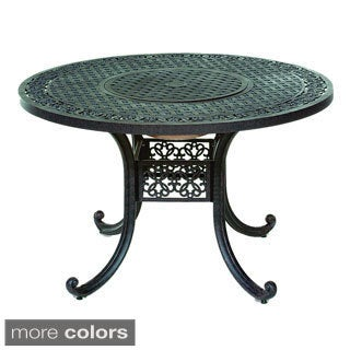 Somette 'Athens' 48-inch Round Cast-Aluminum Outdoor Dining Table