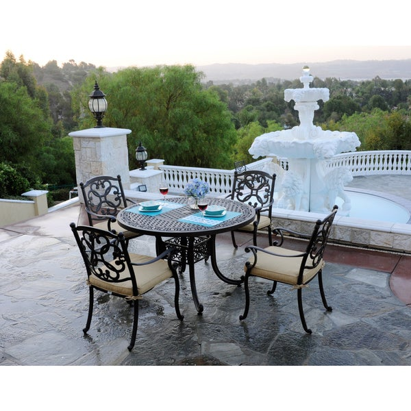 Somette Athens 5-piece Cast Aluminum Dining Set