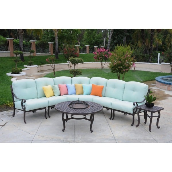 Somette Athens Sectional Deep Seating Set - (5 pieces + 5 cushions)