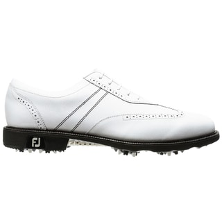 FootJoy Men's Icon Wing Tip White Golf Shoes