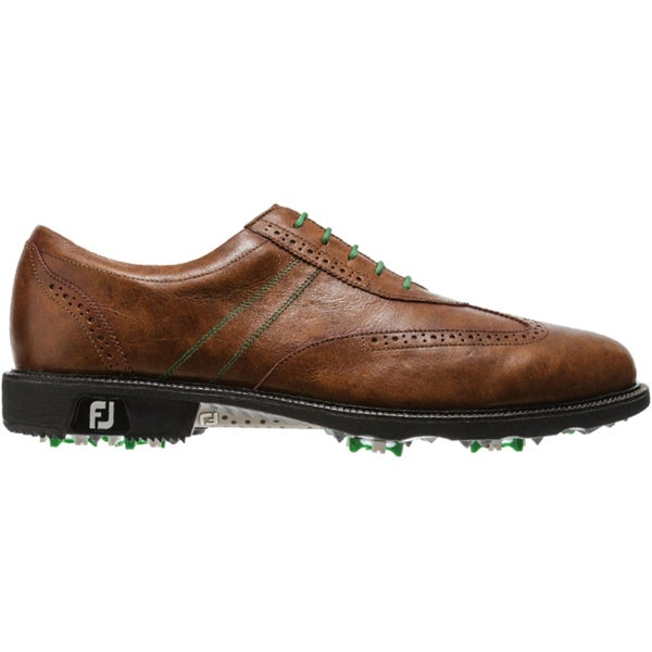 FootJoy Men's Icon Wing Tip Antique Tan Golf Shoes