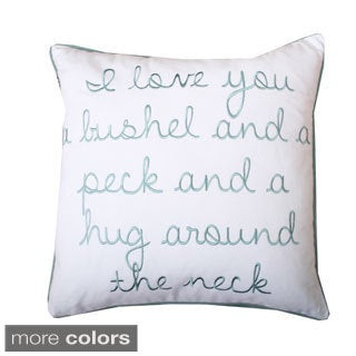 'I Love You a Bushel and a Peck' 18-inch Throw Pillow