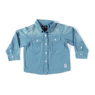 Something Strong Boys Denim Shirt in Blue