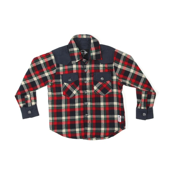 Something Strong Boys Long Sleeve Western Style Shirt