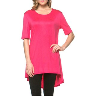 Tabeez Collection High-Low Inset Tunic Top