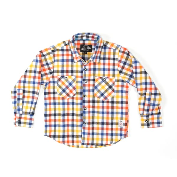 Something Strong Boys Long Sleeve Flannel Shirt in Yellow