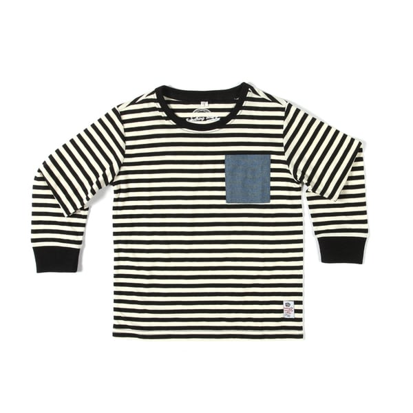 Something Strong Boys Striped Long Sleeve T-Shirt in Navy/White