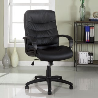 Furniture of America Della Black Leatherette Office Chair