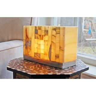 Handmade Translucent Mosaic Alabaster Citadel Lamp (Egypt)