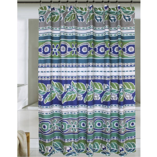 Jovi Home Mediterranean Ikat Print Shower Curtain