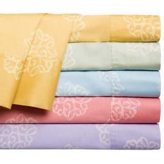 Milena 100% Cotton 300 Thread Count Print Sheet Set