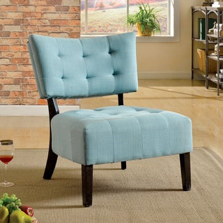 Furniture of America Delanie Modern Linen Accent Chair